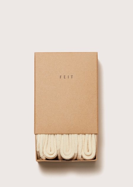 FEIT 3 Pack Wool Socks - NATURAL