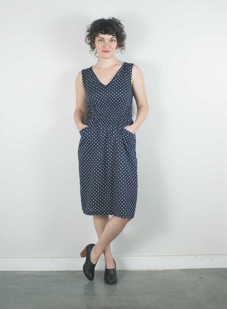modaspia Fiji Dress - Navy Polka Dot