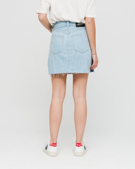 Dr. Denim Mallory Denim Skirt - Blocking Blue