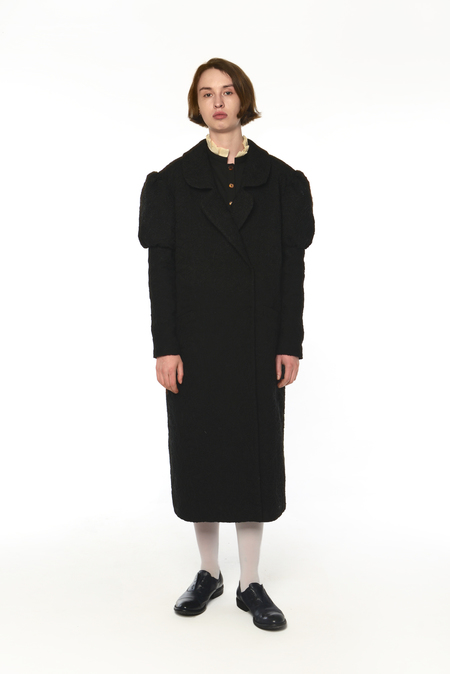 POLYHEDRON Berta coat - black