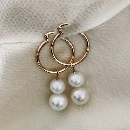 Frankie Two Drops Earring - Gold