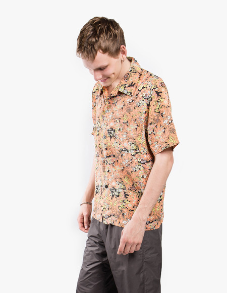 Our Legacy Short Sleeve Box Shirt - Red Plants Print