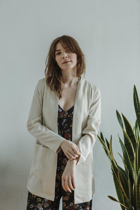 Amanda Moss Iris Blazer - Bone