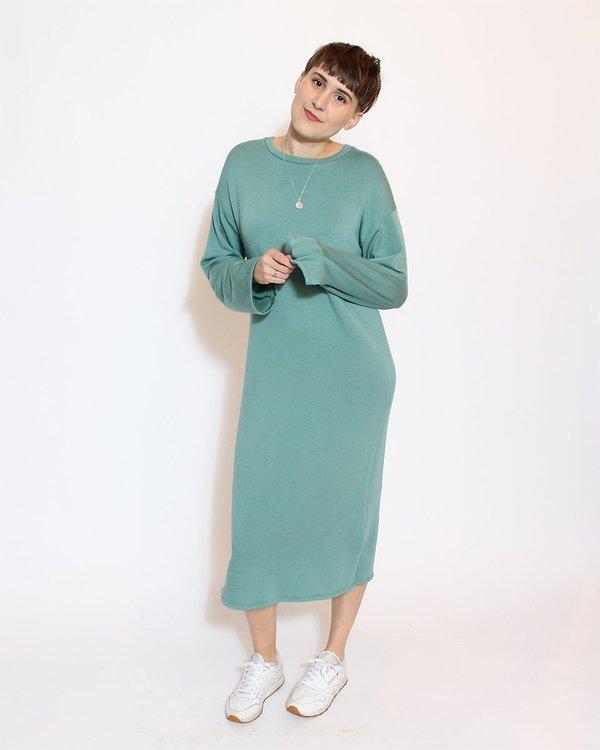 Corinne Midi Side Slits Dress - Jade