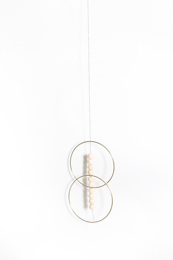 Sonadora In Love Brass And Wooden Bead Double Hoop Wall Art On Garmentory