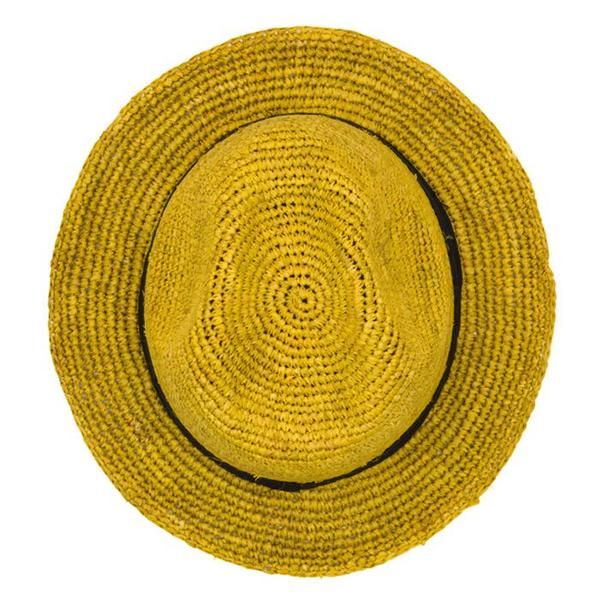 Kids Noro Georges Raffia Summer Hat - Mustard Yellow