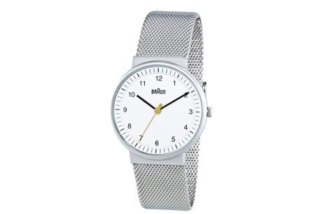 BRAUN 32MM ANALOG WATCH - STAINLESS STEEL