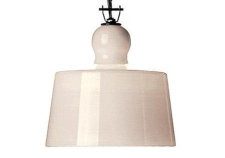 Michele de Lucchi ACQUATINTA SUSPENSION LAMP - WHITE MURANO GLASS