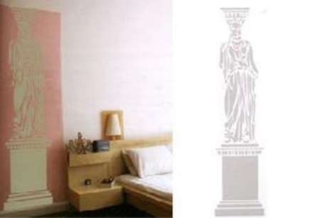 DOMESTIC CARYATID WALL STICKER - Mint
