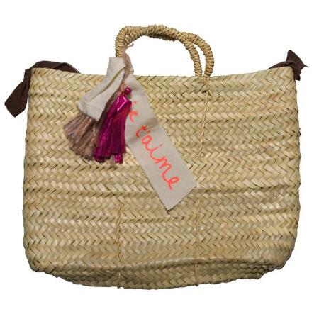 KIDS Tambere Straw Bag With Tassels - Beige Brown