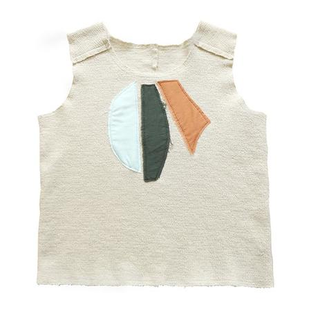 KIDS Tambere Tank Top With Patches - Mocha Brown