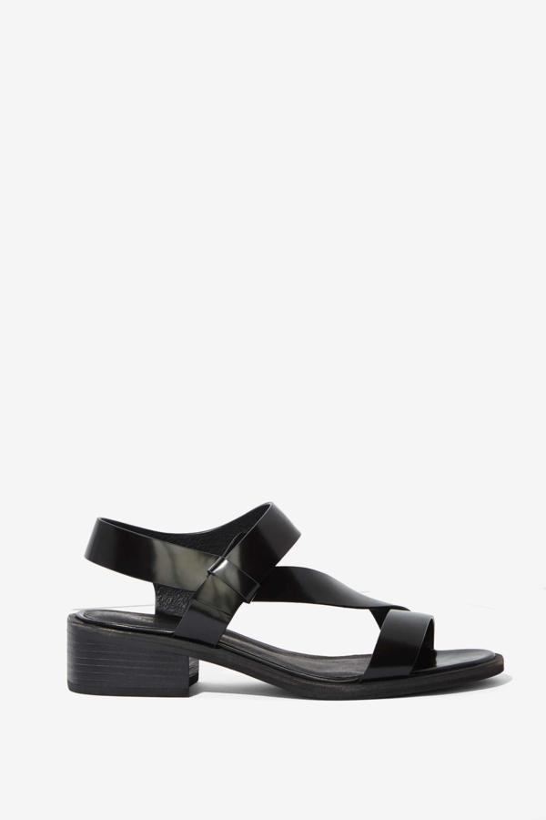 Intentionally Blank Box Leather Emmit Sandal - Black