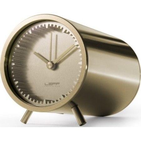 LEFF AMSTERDAM TUBE CLOCK - BRASS
