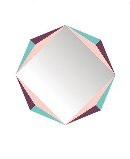 Domestic The Octagon Mirror - Multicoloured