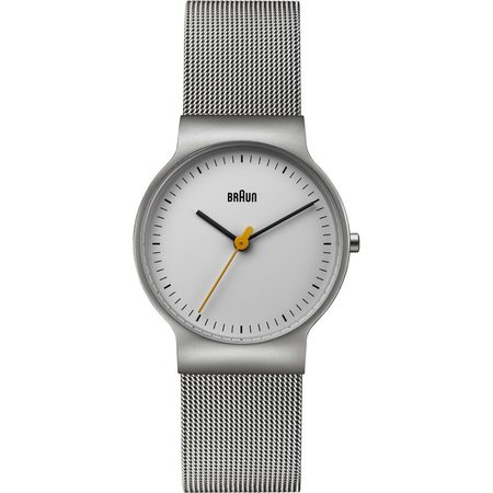 Braun Classic Slim Watch - White Dial/Stainless Steel