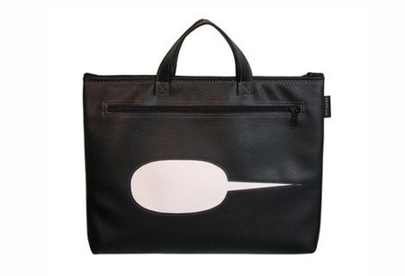 Snap Design WORD BUBBLE LAPTOP BAG - BLACK/WHITE