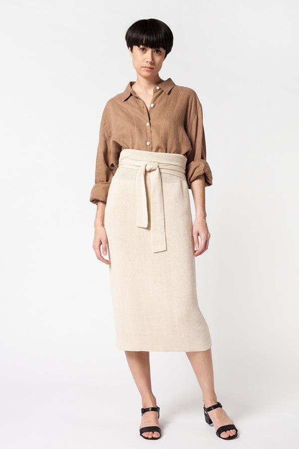 9cc4760e31c Lauren Manoogian Rib Skirt - crudo. sold out