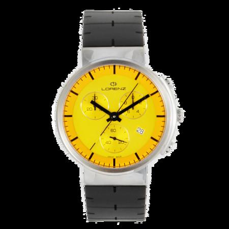 UNISEX Lorenz Culdesac Neos Chrono Watch - Yellow/Black