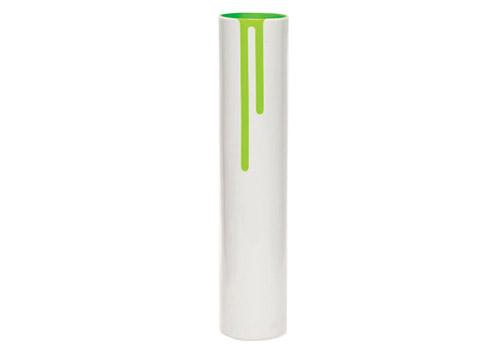 Block Design Neon Green Vase
