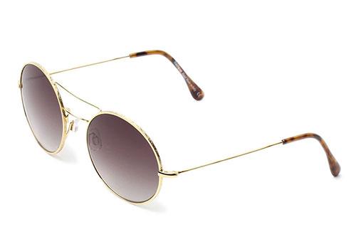 Illesteva Delon Gold with Brown Gradient Sunglasses