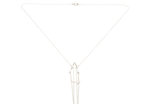 K/LLER Collection Petite Deco Swag Silver Necklace