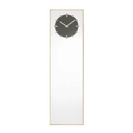 LEFF AMSTERDAM Inverse Mirror Clock - black