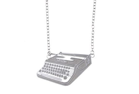 Polli Typewriter Necklace - Stainless Steel