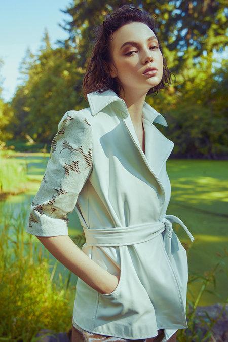 Alyson Eastman Petal Wrap Jacket - white