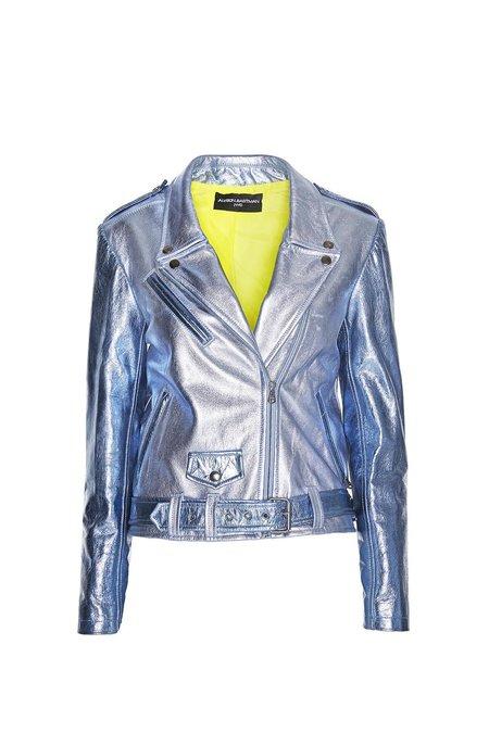Alyson Eastman Kyanite Moto Jacket - metallics Blue