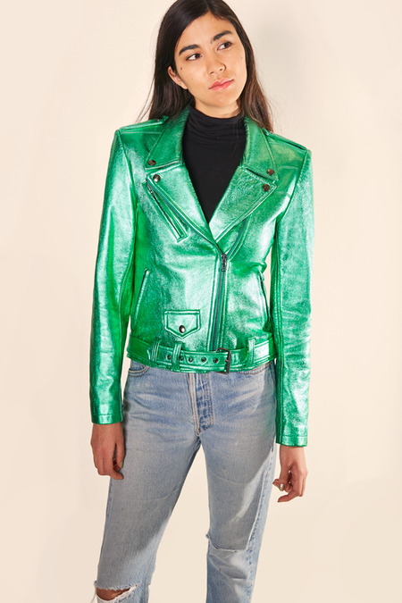 Alyson Eastman Moto Jacket - Emerald