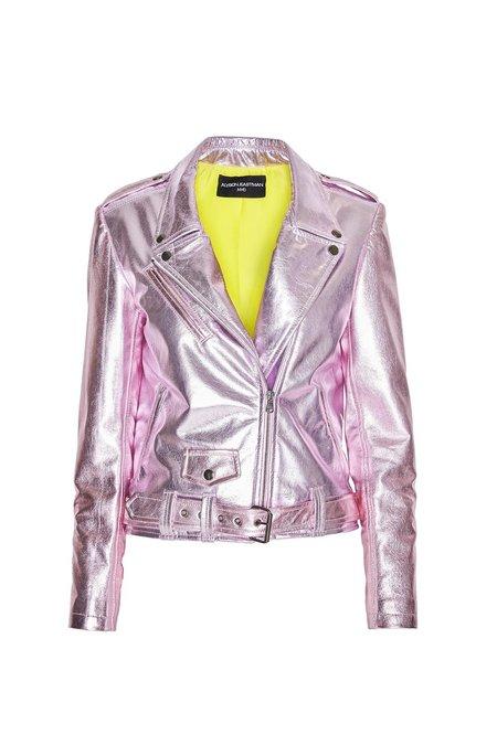 alyson eastman Metallic Moto Jacket - Rose Quartz