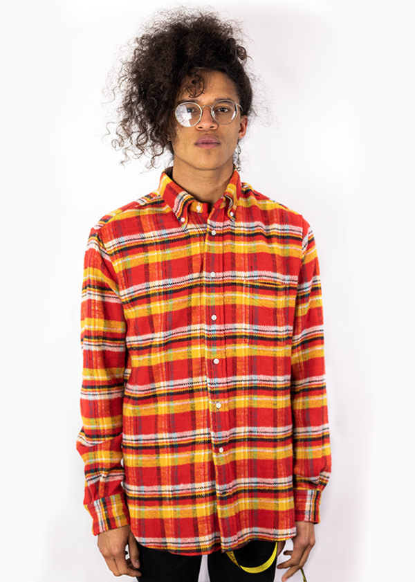 8bc0d029a53 Gitman Vintage Utah Triple Yarn Flannel Shirt - Red Yellow