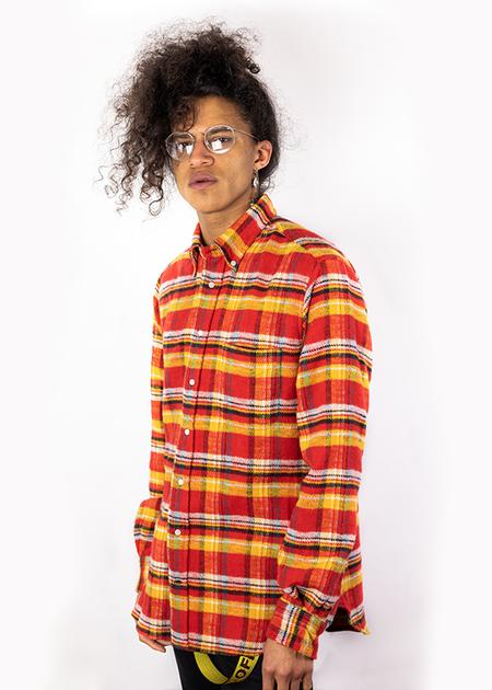Gitman Vintage Utah Triple Yarn Flannel Shirt - Red/Yellow