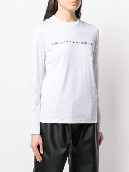 HELMUT LANG Slogan Logo Patch Top - White