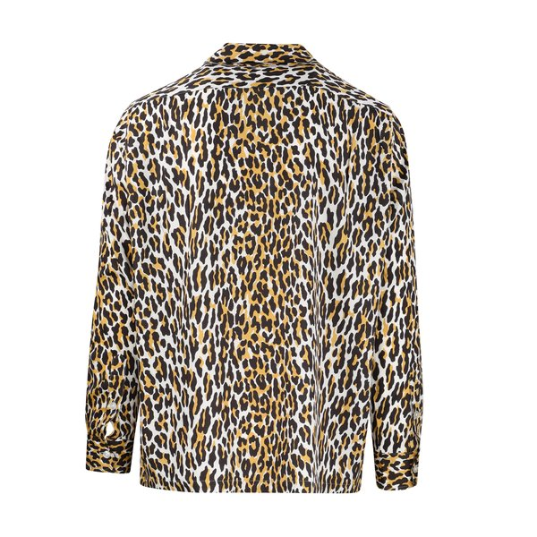 Wacko Maria Leopard Open Collar Shirt
