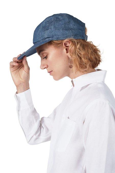 Unisex Blluemade Linen Cap - Denim-Blue