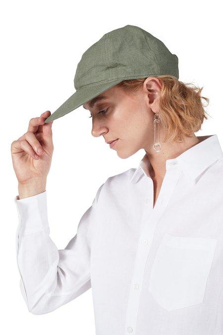 Unisex Blluemade Linen Cap - Olive