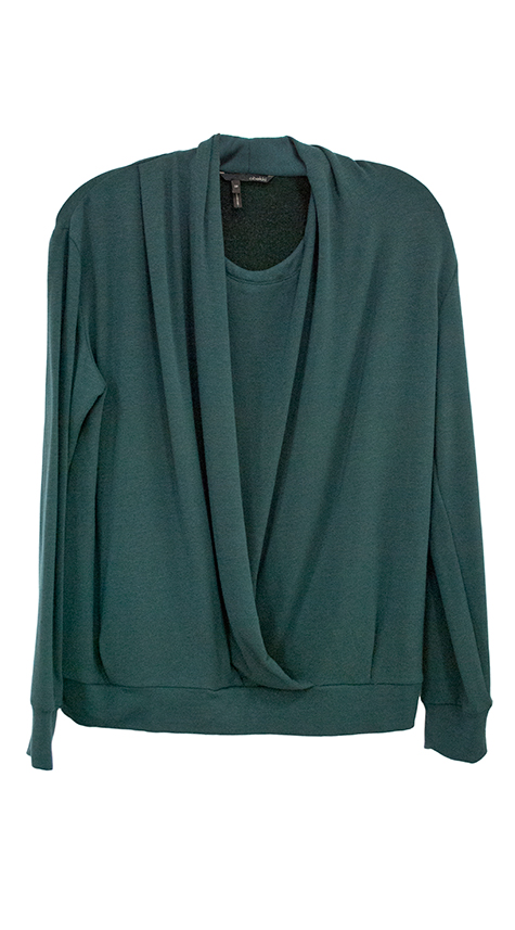 Obakki Draped Soft Knit Pullover