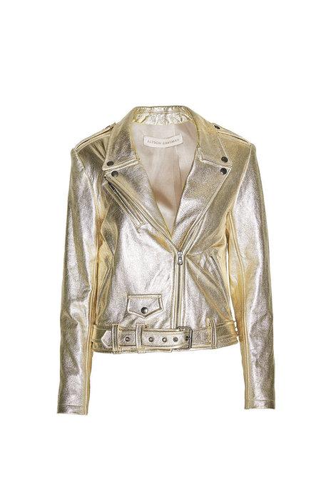 Alyson Eastman Moto Jacket - Gold Metallic