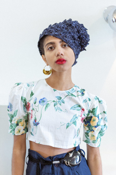 Sisterwife Vintage Issey Miyake Hat - Navy