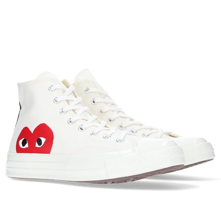 Converse CDG Play x Chuck Taylor All Star 1970s Hi Sneakers - Beige