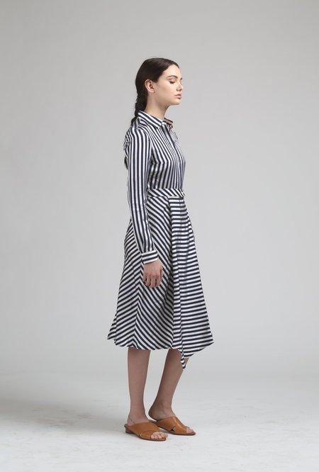 Maison Labiche Pareo Shirt Dress - Navy/White Stripe