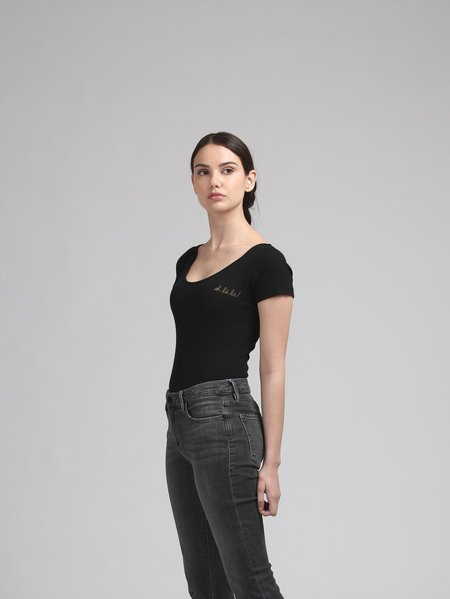 Maison Labiche Oh La La Bodysuit - BLACK