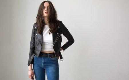 Deadwood Joan Recycled Leather Jacket - black
