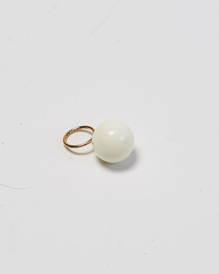 Faux/Real Lollipop ring - ivory