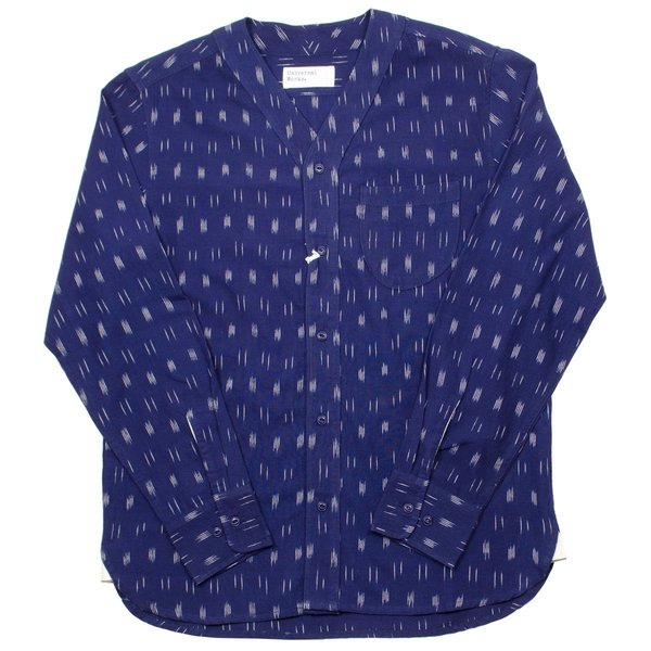 Dark Blue Ikkat OverShirt