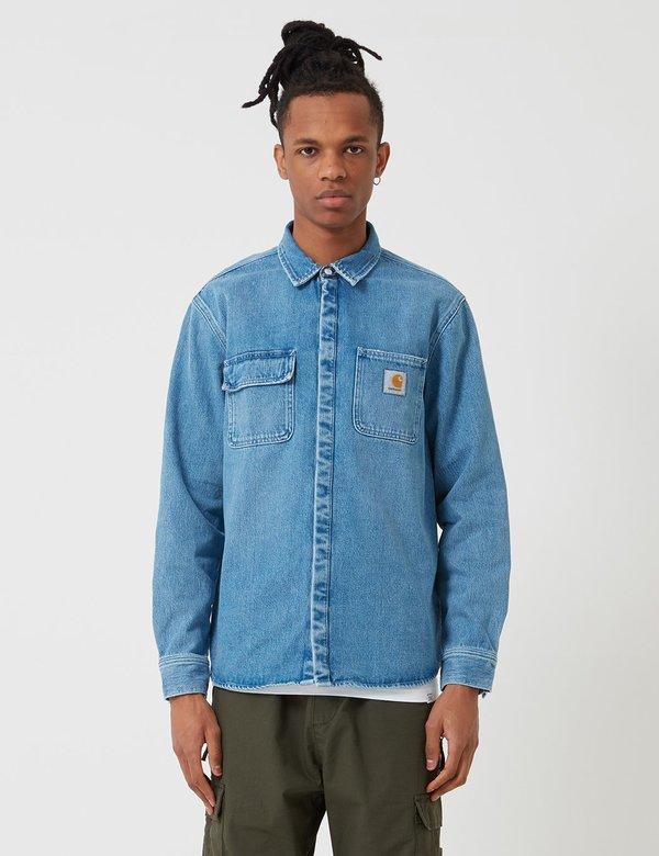 9e248dd7b5 CARHARTT WIP Salinac Shirt Jacket - Light Stone Washed Blue
