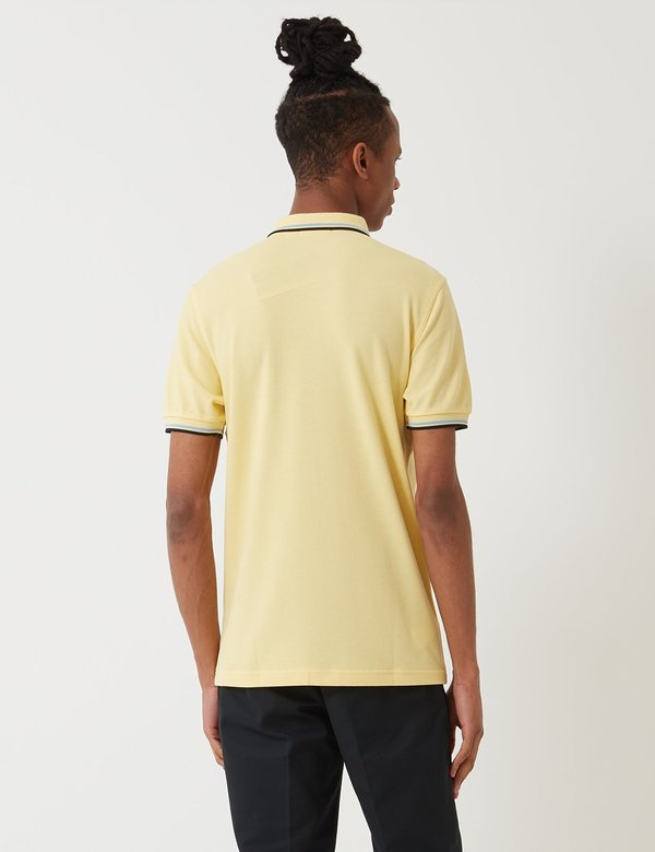 0b468d4d6 ... Tipped Polo Shirt - Soft Yellow Summer Blue Black.  74.00 68.00. Fred  Perry