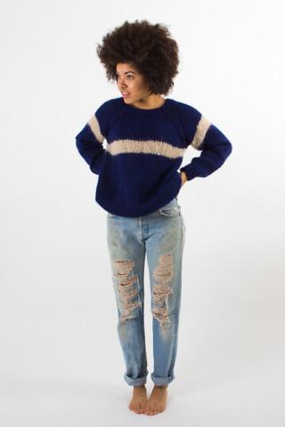 Maiami Wool Striped Sweater