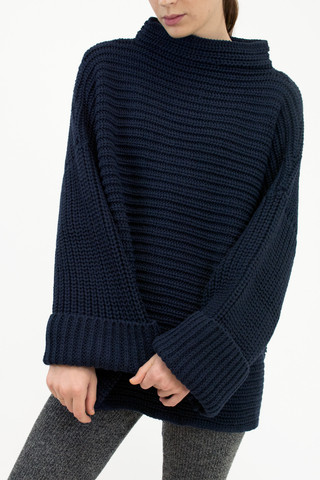 Micaela Greg Parallel Sweater - Blue Black